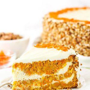 Pinterest image for cheesecake swirl carrot cake