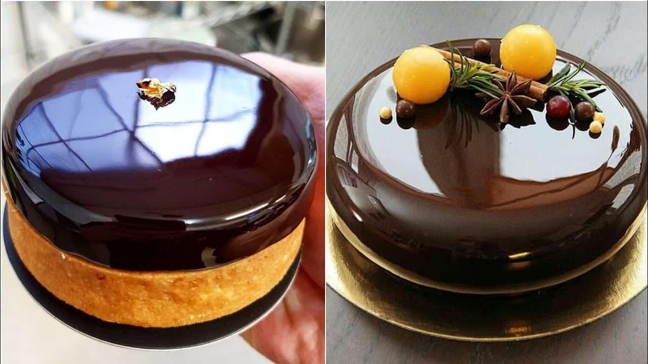Chocolate Mirror Glaze Cake Recipe | Mirror Glaze Cake...