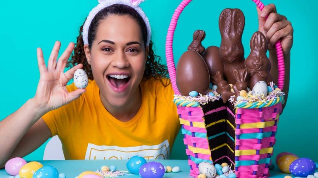 Easter Basket made of CAKE! | Chocolate Cake,...