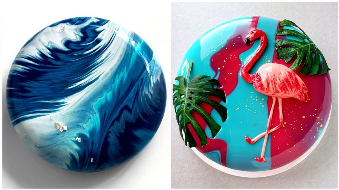 Most Satisfying Mirror Glaze Cake Decorating...