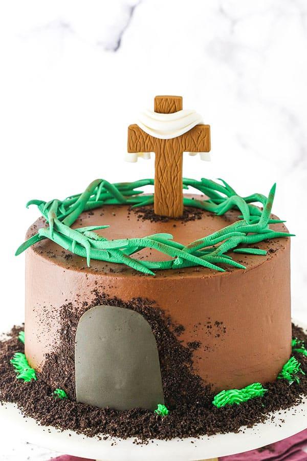 pinterest image for resurrection cake
