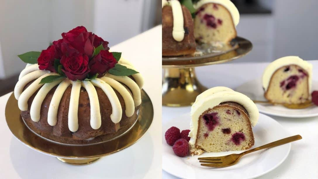 White Chocolate Raspberry Nothing Bundt Cake...