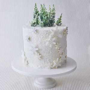 Winter Wonderland Snowflake Cake