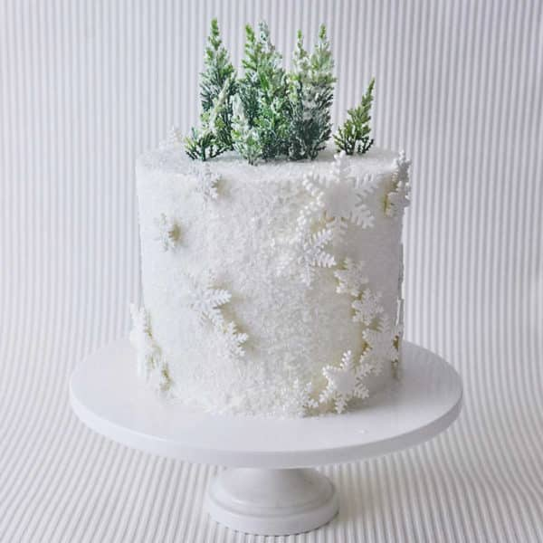 Winter Wonderland Snowflake Cake