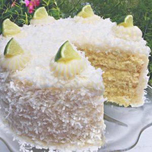This Coconut Lime Cake is the perfect recipe for spring and summer gatherings!