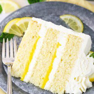pinterest collage image for lemon mascarpone layer cake