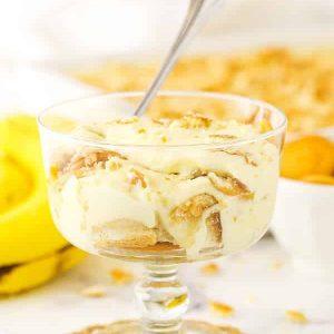 Pinterest image collage for Homemade Banana Pudding