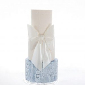 Bow Beauty Wedding Cake