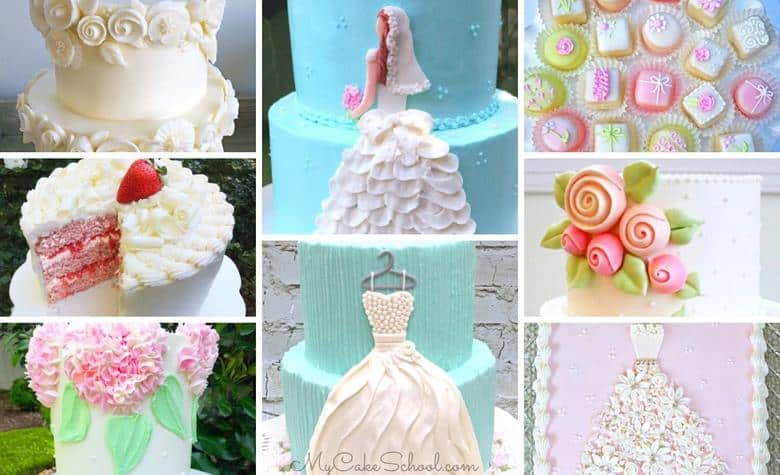 A roundup of the Best Bridal Shower Cake Designs and Recipes!
