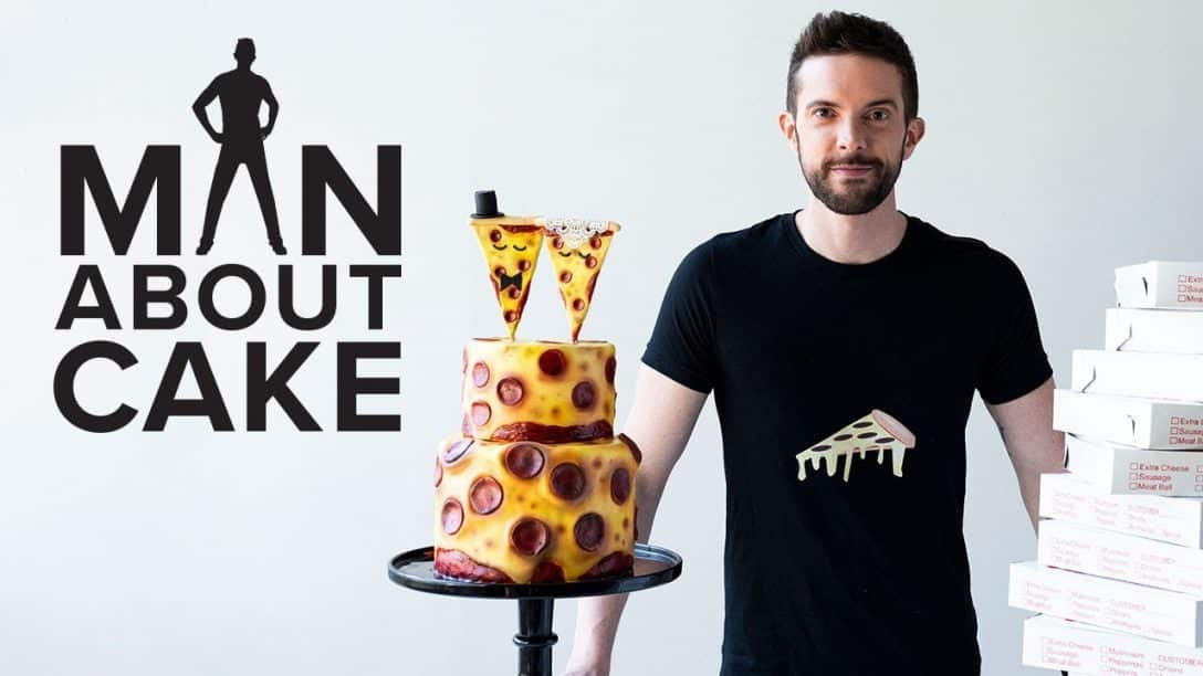 Pizza Wedding Cake for National Pepperoni...