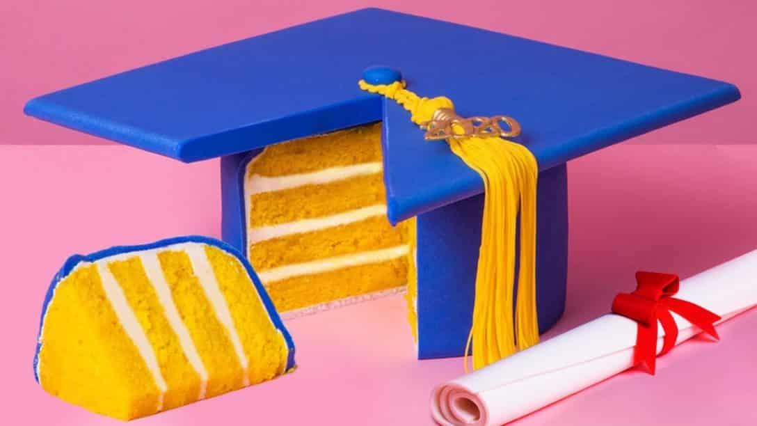 Quarantine Graduation Cap Cake for Class of...