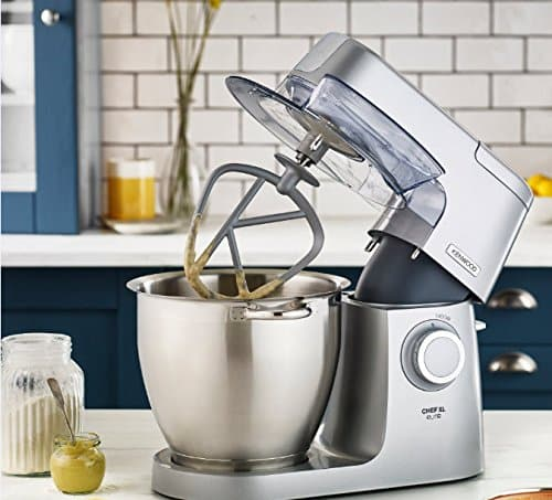 Kenwood Chef Elite XL Stand Mixer for Baking Powerful Large Food Mixer with K beater Dough Hook Whisk and 67 Litre Bowl 1400 W KVL6100S Silver 0 4
