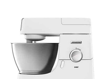 Kenwood Chef Stand Mixer for Baking Stylish Food Mixer in White with K beater Dough Hook Whisk and 46 Litre Bowl 1000 W KVC3100 White 0