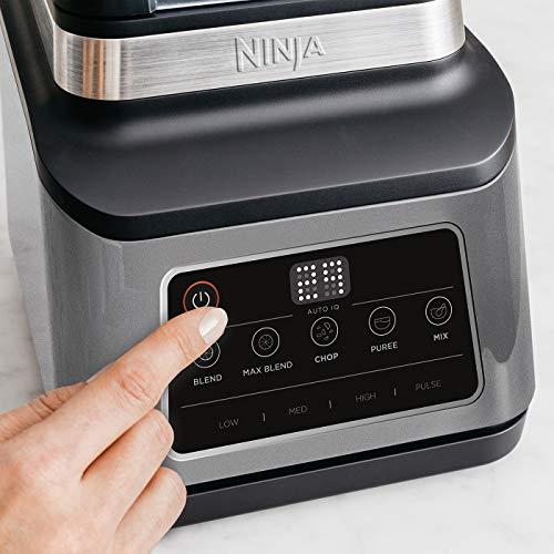 Ninja 3 in 1 Food Processor with Auto iQ BN800UK 1200W 18L Bowl 21L Jug 07L Cup BlackSilver Tritan BPA Free Plastic 1200 W 21 liters Black Silver 0 3