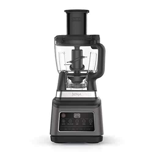 Ninja 3 in 1 Food Processor with Auto iQ BN800UK 1200W 18L Bowl 21L Jug 07L Cup BlackSilver Tritan BPA Free Plastic 1200 W 21 liters Black Silver 0