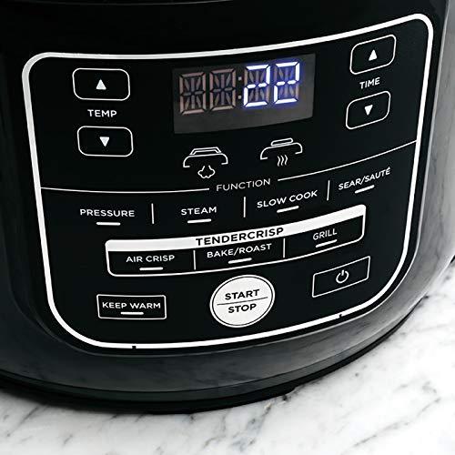 Ninja Foodi Electric Multi Cooker OP300UK Pressure Cooker and Air Fryer Grey and Black 0 4