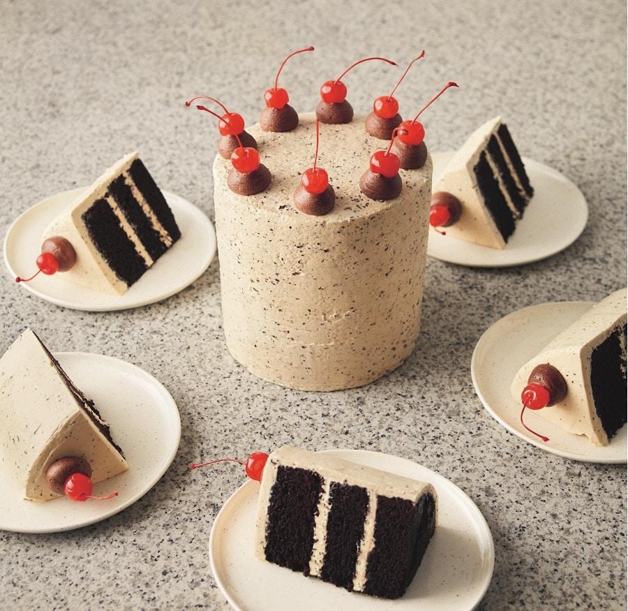 Vegan Chocolate Cake with Chocolate Terrazzo Frosting by Sarah Hardy on Cake-Geek.com