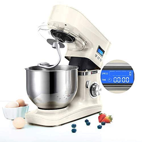 Hauswirt Stand Mixer Food Mixer 5L Stainless Steel Mixing Bowl 8 Speed 1000W Kitchen Mixer with Dough Hook Whisk Beater LCD Display Planetary Mixing System 0