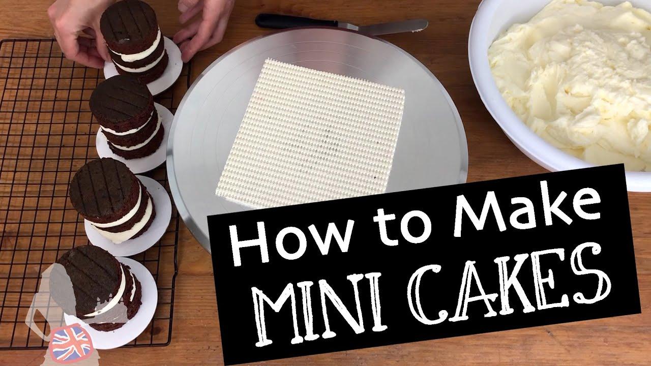 How To Make Mini Cakes | 4 Tricks To Frost Mini Cakes...