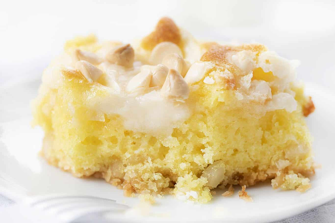 Lemon Earthquake Cake