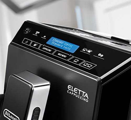 DeLonghi Eletta Fully Automatic Bean to Cup Coffee Machine Cappuccino and Espresso Maker ECAM 44660B Black 0 2