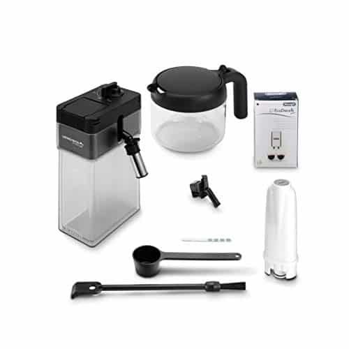 DeLonghi Primadonna Soul Fully Automatic Bean to Cup Espresso an Cappuccino Coffee Maker ECAM61075mb Black and Silver 0 4