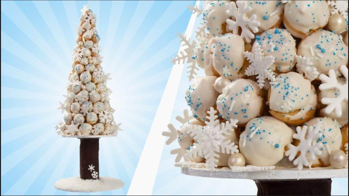 Cream Puff Christmas Cake