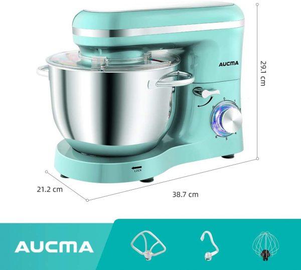 Aucma Stand Mixer Lt Blue