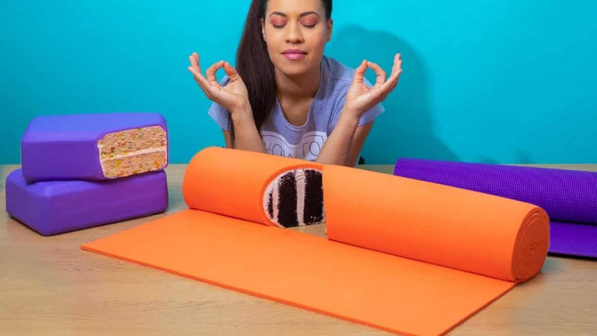 Yoga Mat Cake