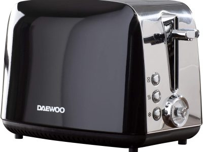 Daewoo Kingsbury 2 Slice Toaster Black