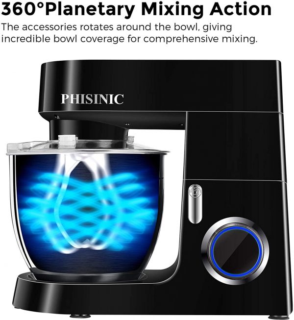 PHISINIC Stand Mixer for Baking - Black