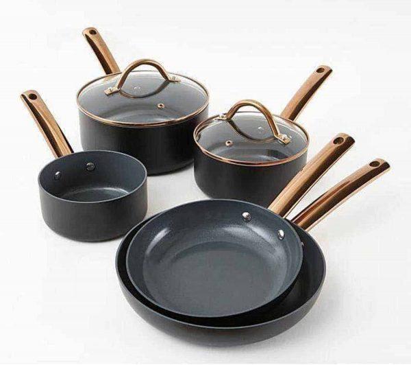 Cermalon 5-Piece Heritage Non-Stick Pan Set