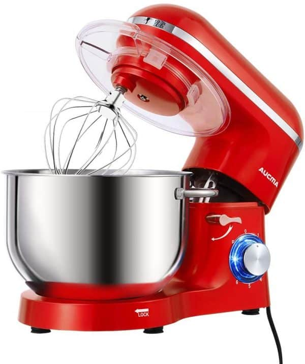 Aucma Red Stand Mixer 6.2L