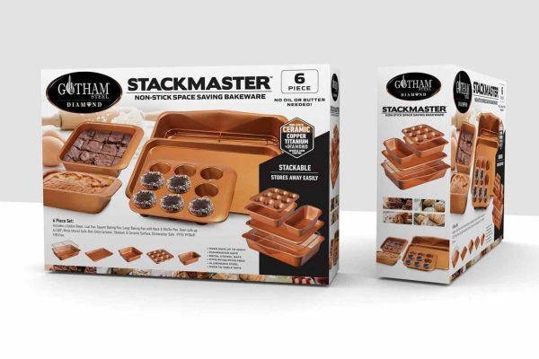 Gotham Steel 6 Piece Stackmaster Bakeware Set