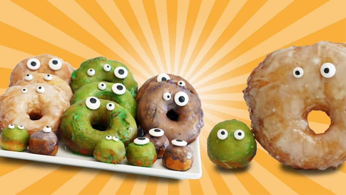Halloween Monster Doughnuts
