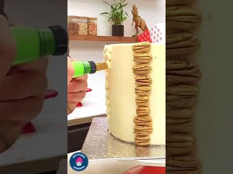 Birthday Cake with Piped Texture